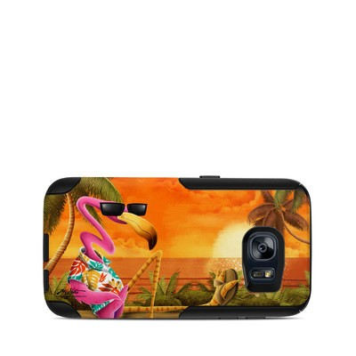 OtterBox Commuter Galaxy S7 Case Skin - Sunset Flamingo