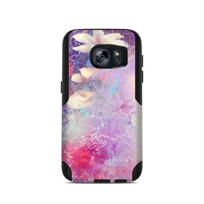 OtterBox Commuter Galaxy S7 Case Skin - Sketch Flowers Lily