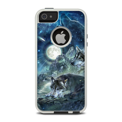OtterBox Commuter iPhone 5 Case Skin - Bark At The Moon