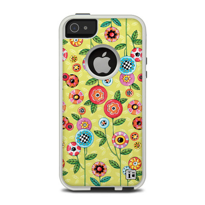 OtterBox Commuter iPhone 5 Case Skin - Button Flowers