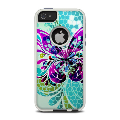 OtterBox Commuter iPhone 5 Case Skin - Butterfly Glass