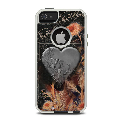 OtterBox Commuter iPhone 5 Case Skin - Black Lace Flower