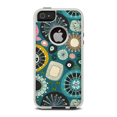 OtterBox Commuter iPhone 5 Case Skin - Blooms Teal