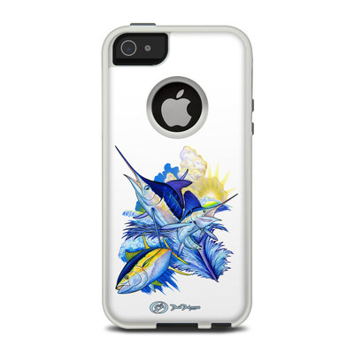 OtterBox Commuter iPhone 5 Case Skin - Blue White and Yellow