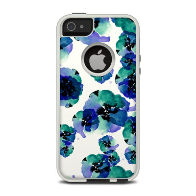 OtterBox Commuter iPhone 5 Case Skin - Blue Eye Flowers