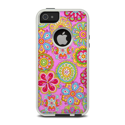 OtterBox Commuter iPhone 5 Case Skin - Bright Flowers