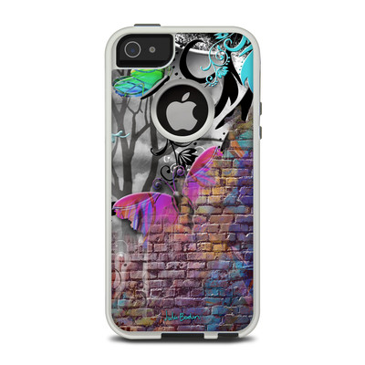 OtterBox Commuter iPhone 5 Case Skin - Butterfly Wall