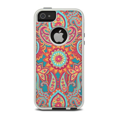 OtterBox Commuter iPhone 5 Case Skin - Carnival Paisley