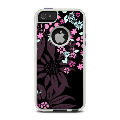 OtterBox Commuter iPhone 5 Case Skin - Dark Flowers