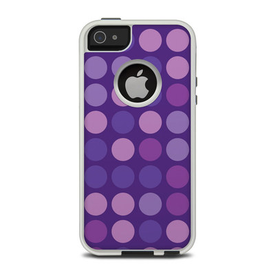 OtterBox Commuter iPhone 5 Case Skin - Big Dots Purple