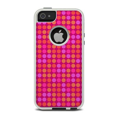 OtterBox Commuter iPhone 5 Case Skin - Dots Pink
