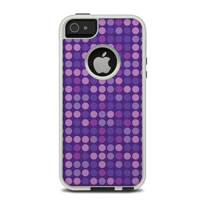 OtterBox Commuter iPhone 5 Case Skin - Dots Purple