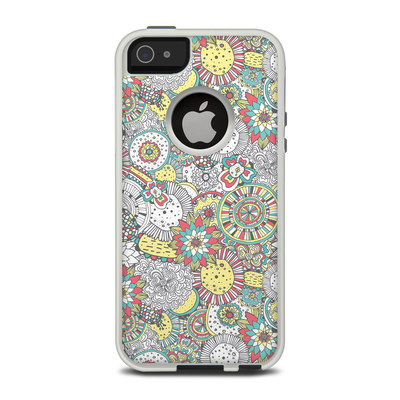 OtterBox Commuter iPhone 5 Case Skin - Faded Floral