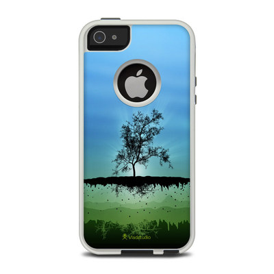 OtterBox Commuter iPhone 5 Case Skin - Flying Tree Blue