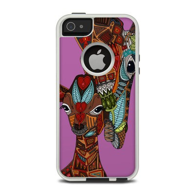 OtterBox Commuter iPhone 5 Case Skin - Giraffe Love