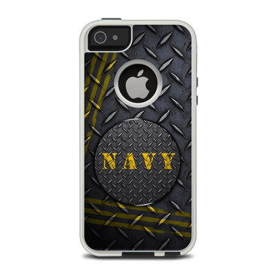 OtterBox Commuter iPhone 5 Case Skin - Navy Diamond Plate
