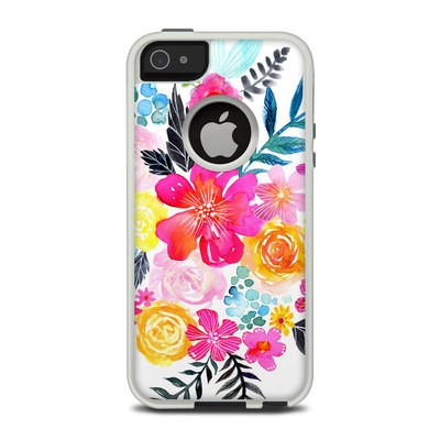 OtterBox Commuter iPhone 5 Case Skin - Pink Bouquet