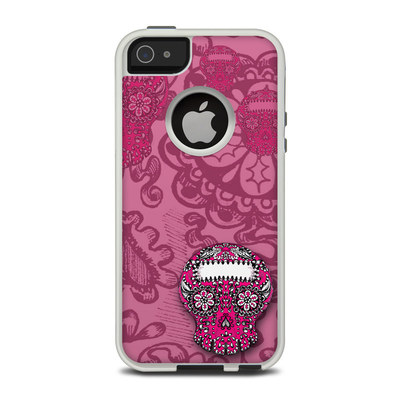 OtterBox Commuter iPhone 5 Case Skin - Pink Lace