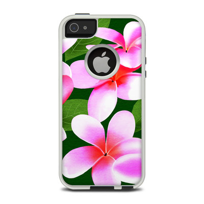 OtterBox Commuter iPhone 5 Case Skin - Pink Plumerias