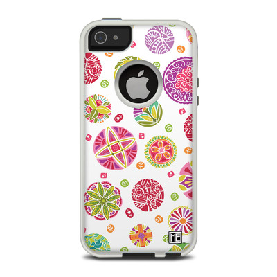 OtterBox Commuter iPhone 5 Case Skin - Round Flowers