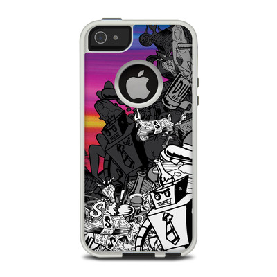 OtterBox Commuter iPhone 5 Case Skin - Robo Fight
