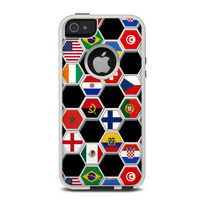 OtterBox Commuter iPhone 5 Case Skin - Soccer Flags