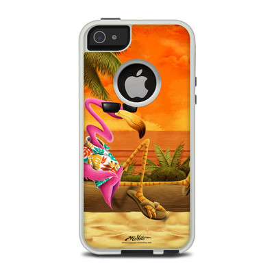 OtterBox Commuter iPhone 5 Case Skin - Sunset Flamingo