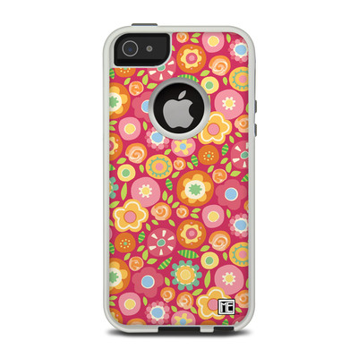 OtterBox Commuter iPhone 5 Case Skin - Flowers Squished