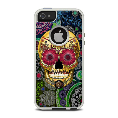 OtterBox Commuter iPhone 5 Case Skin - Sugar Skull Paisley