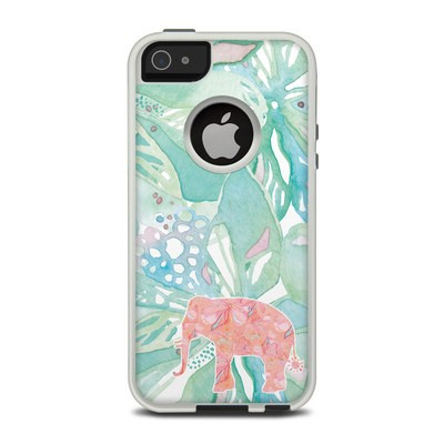 OtterBox Commuter iPhone 5 Case Skin - Tropical Elephant
