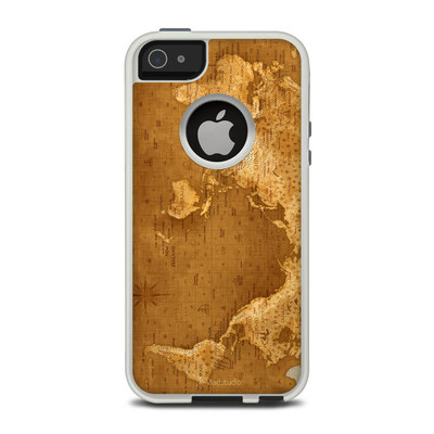 OtterBox Commuter iPhone 5 Case Skin - Upside Down Map