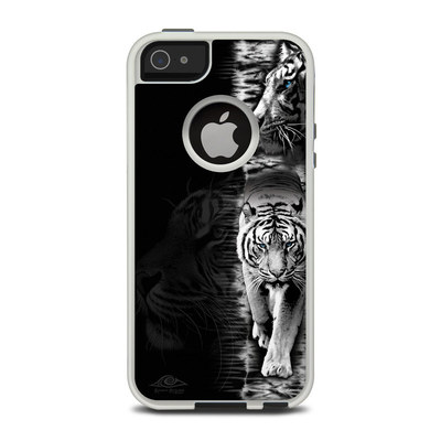 OtterBox Commuter iPhone 5 Case Skin - White Tiger