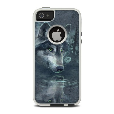 OtterBox Commuter iPhone 5 Case Skin - Wolf Reflection