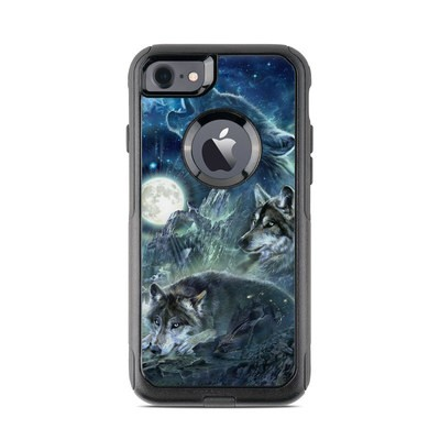 OtterBox Commuter iPhone 7 Case Skin - Bark At The Moon