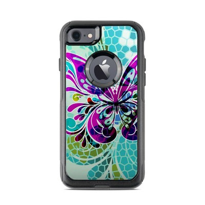 OtterBox Commuter iPhone 7 Case Skin - Butterfly Glass