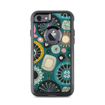 OtterBox Commuter iPhone 7 Case Skin - Blooms Teal