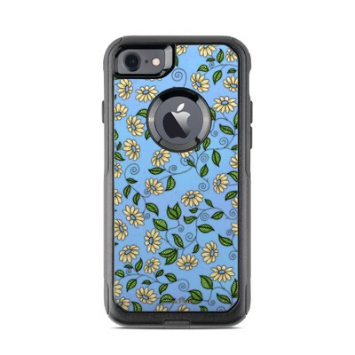 OtterBox Commuter iPhone 7 Case Skin - Blue Daisy