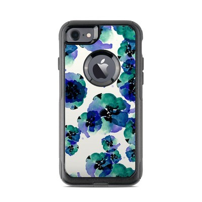 OtterBox Commuter iPhone 7 Case Skin - Blue Eye Flowers