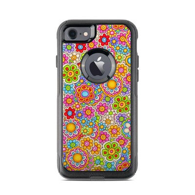 OtterBox Commuter iPhone 7 Case Skin - Bright Ditzy