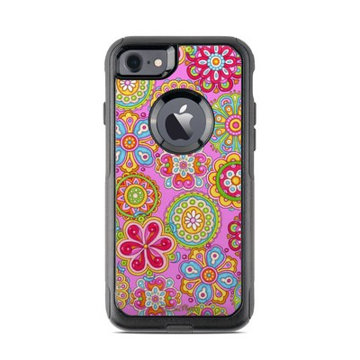 OtterBox Commuter iPhone 7 Case Skin - Bright Flowers