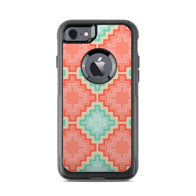 OtterBox Commuter iPhone 7 Case Skin - Coral Diamond
