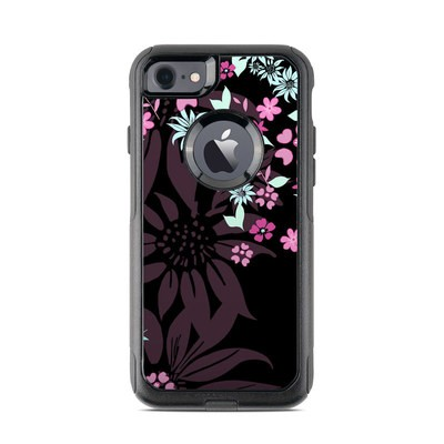 OtterBox Commuter iPhone 7 Case Skin - Dark Flowers