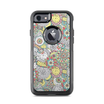 OtterBox Commuter iPhone 7 Case Skin - Faded Floral