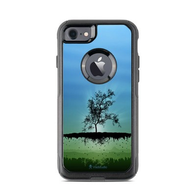 OtterBox Commuter iPhone 7 Case Skin - Flying Tree Blue