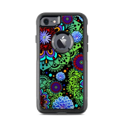 OtterBox Commuter iPhone 7 Case Skin - Funky Floratopia