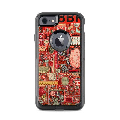 OtterBox Commuter iPhone 7 Case Skin - Heart and Teeth