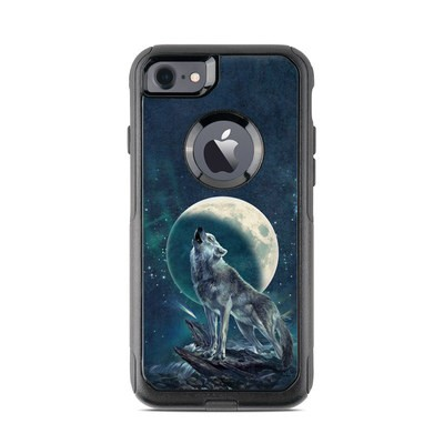 OtterBox Commuter iPhone 7 Case Skin - Howling Moon Soloist