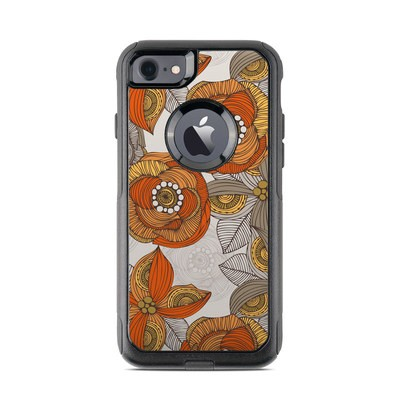 OtterBox Commuter iPhone 7 Case Skin - Orange and Grey Flowers