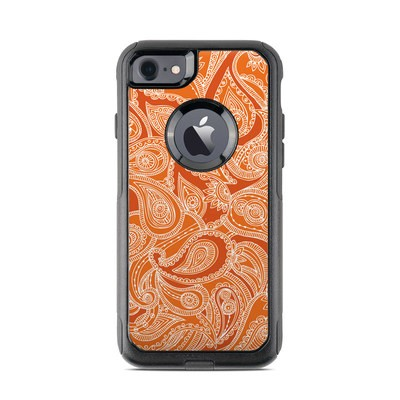 OtterBox Commuter iPhone 7 Case Skin - Paisley In Orange