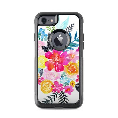 OtterBox Commuter iPhone 7 Case Skin - Pink Bouquet